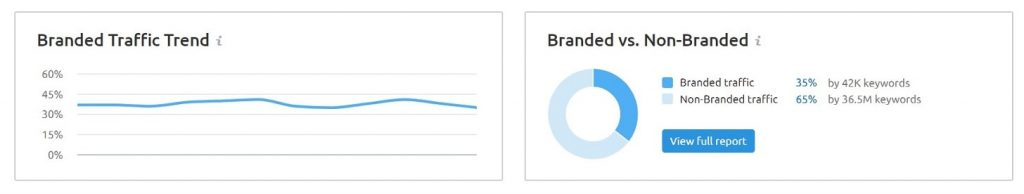 branded vs Non-branded traffic
