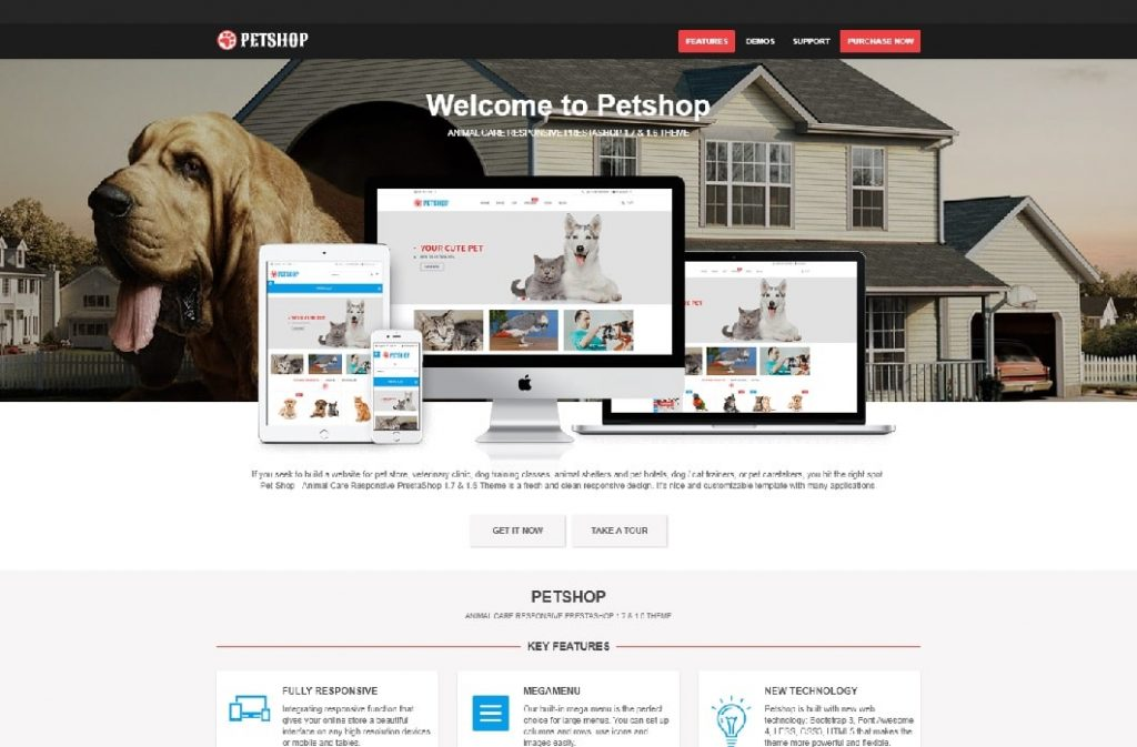 wp theme for petshops
