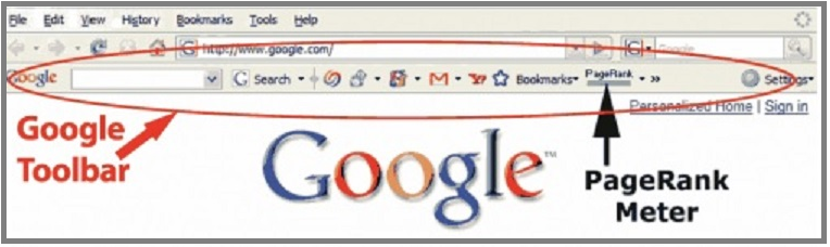 pagerank on toolbar