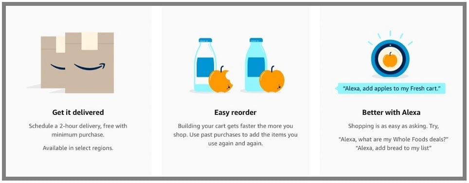 shop groceries with Amazon Fresh