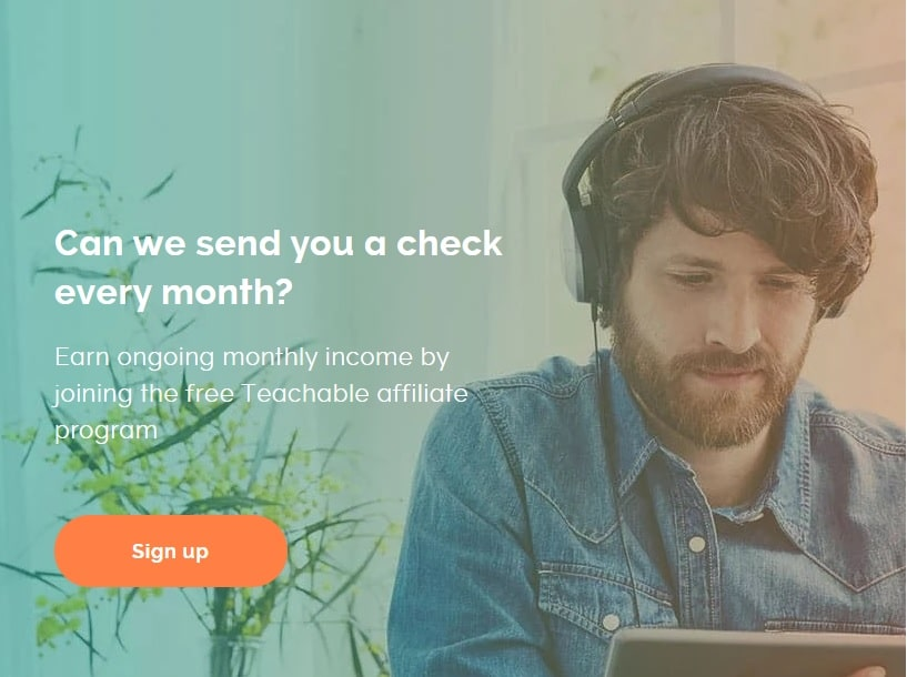 Teachable affiliate signup page