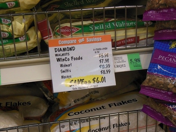 prices at winco store