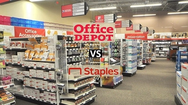 Office depot vs staples comparison